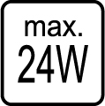 Maximálny príkon 24W