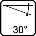 Uhol naklapania 30°
