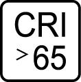 Index podania farieb CRI>65
