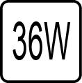 Maximálny príkon 36W