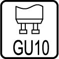 Typ objímky / pätice GU10