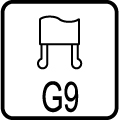 Typ objímky / pätice G9