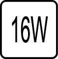 Maximálny príkon 16W