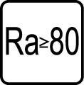 Index podania farieb RA ›= 80
