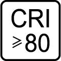 Index podania farieb (kvalita osvetlenia) CRI > 80