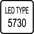 Typ LED čipu - SMD 5730 LED čip
