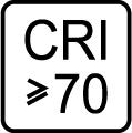 Index podania farieb (kvalita osvetlenia) CRI > 70