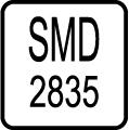 Typ LED čipu - SMD 2835 LED čip