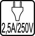 Vidlica 2,5A/~250V (bez uzemnenia)