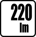 Svetelný tok v lumenoch - 220 lm