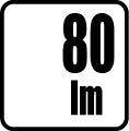 Svetelný tok v lumenoch - 80lm