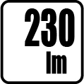 Svetelný tok v lumenoch - 230lm