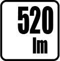 Svetelný tok v lumenoch - 520lm