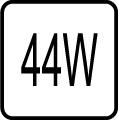 Maximálny príkon 44W