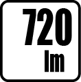 Svetelný tok v lumenoch - 720lm