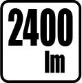 Svetelný tok v lumenoch - 2400 lm