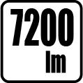 Svetelný tok v lumenoch - 7200 lm