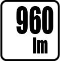 Svetelný tok v lumenoch - 960 lm