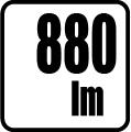 Svetelný tok v lumenoch - 880 lm