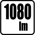 Svetelný tok v lumenoch - 1080 lm