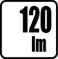 Svetelný tok v lumenoch - 120 lm