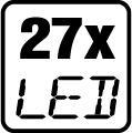 Počet LED čipov - 27x