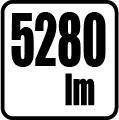 Svetelný tok v lumenoch - 5280 lm