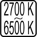 Teplota chromatickosti - 2700 K - 6500 K
