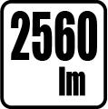 Svetelný tok v lumenoch - 2560 lm