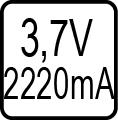 Určené pre napájanie zo solárneho panela 3,7V,2200A