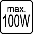 Maximálny príkon 100W