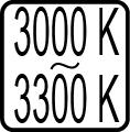 Teplota chromatickosti - 3000 K - 3300 K