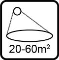Rozsah dezinfikovanej oblasti 20-60m2