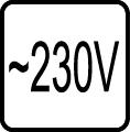 Určené pre napätie 230V