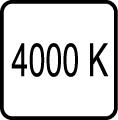Teplota chromatickosti - 4000 K - Denné biele svetlo