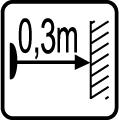 Minim�lna vzdialenos� od osvetlovan�ho objektu 0,3m