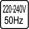 Určené pre napájacie napätie 220-240V 50 Hz