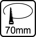 Výrez 70mm