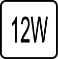 Maximálny príkon 12W