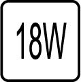 Maximálny príkon 18W