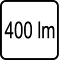 400 lm - Svietivos� v lumenoch