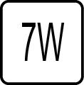 Maximálny príkon 7W