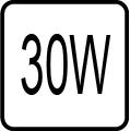 Maximálny príkon 30W