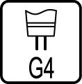 Typ objímky / pätice G4