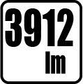 Svetelný tok v lumenoch - 3912 lm