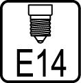 Typ objímky / pätice E14