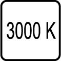 Teplota chromatickosti - 3000 K - Teplé biele svetlo