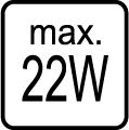 Maximálny príkon 22W