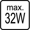 Maximálny príkon 32W