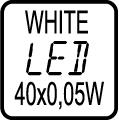 LED 40x0,05W WHITE